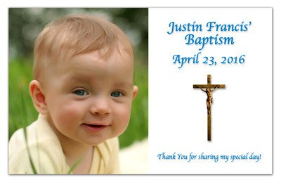 Baptism Announcement Magnets | Cross | MAGNETQUEEN