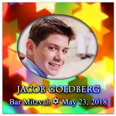 Bar Mitzvah Save The Date Magnets | The Star