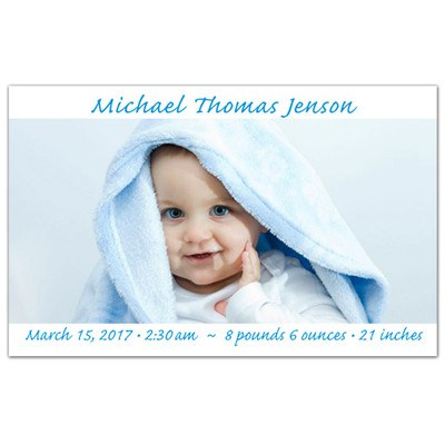 Baby Birth Announcement Magnets | Precious Boy | MAGNETQUEEN