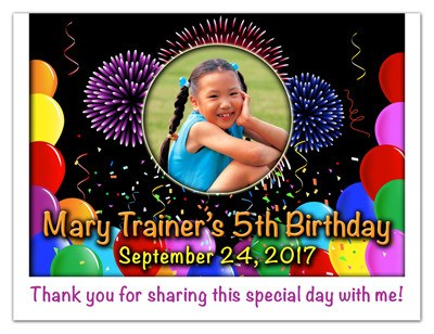 Birthday Party Photo Magnet | Balloon Blast | MAGNETQUEEN