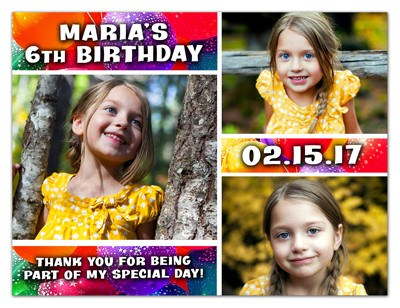 Birthday Photo Magnets |  Three's A Charm | MAGNETQUEEN