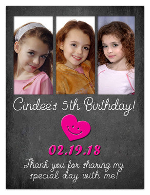 Three Photo Birthday Magnet | Fashion Fun | MAGNETQUEEN