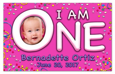Birthday Photo Magnet | I am One | MAGNETQUEEN