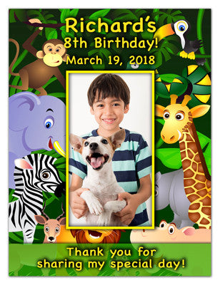 Birthday Photo Magnets | Jungle Boy | MAGNETQUEEN