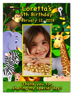Personalized Magnet Favors | Jungle Girl | MAGNETQUEEN