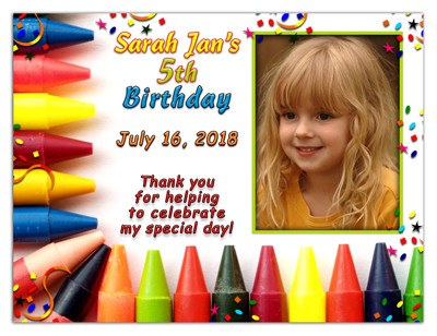 Birthday Magnet Party Favors | Crayon Fun | MAGETQUEEN