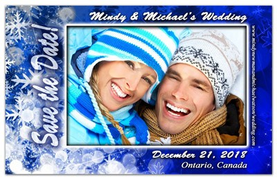Winter Save the Date Magnets | Blue Snowflakes | MAGNETQUEEN