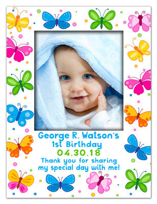 Birthday Photo Magnets | Butterflies Boy | MAGNETQUEEN