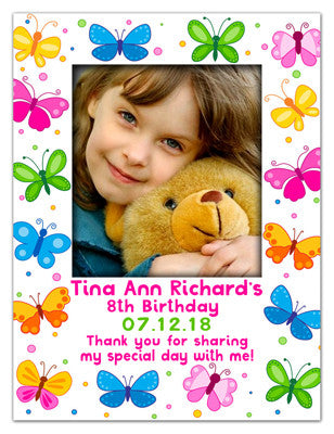 Birthday Photo Magnets | Butterflies | MAGNETQUEEN