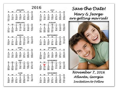 Wedding Save The Date Magnets | Forever In Love