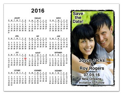 Wedding Calendar Save The Date Magnets | Horizontal