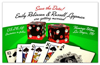 Las Vegas Save The Dates | Cards and Dice | MAGNETQUEEN