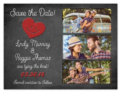 3 Photo Save the Date Magnets | Hipster | MAGNETQUEEN
