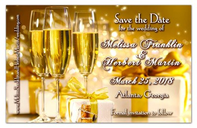 Save the Date Magnets | Champagne Celebration