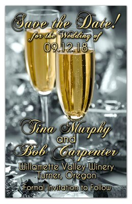 Champagne Toast Wedding Magnets | Bubbly