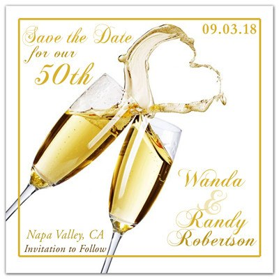 50th Anniversary Save the Date Magnets | Cheers Love - MAGNETQUEEN
