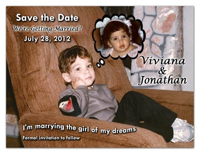 Nostalgic Save the Date Magnets | Childhood Dreams