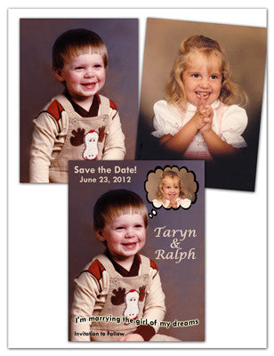 Save The Date Photo Magnet Design Sample