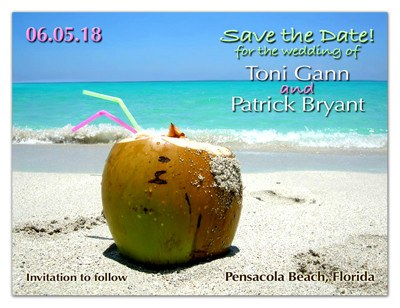 Save the Date Beach Magnets | Coconut Beach | MAGNETQUEEN
