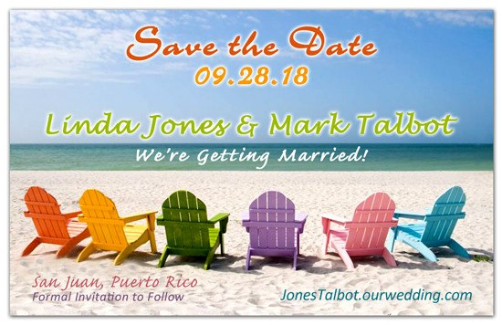 Beach Wedding Magnets | Colorful Beach Chairs | MAGNETQUEEN