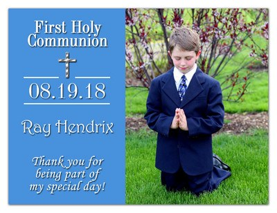 First Holy Communion Magnet Gifts | Classic In Blue | MAGNETQUEEN