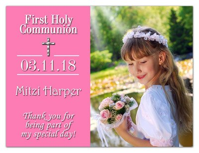 First Holy Communion Magnet Favors | Classic In Pink | MAGNETQUEEN