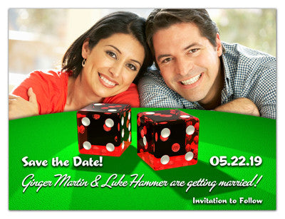 Las Vegas Themed Save The Date Magnets | Perfect Roll | MAGNETQUEEN