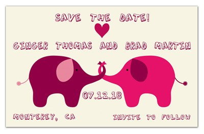 Humorous Save the Date | Elephant Love | MAGNETQUEEN
