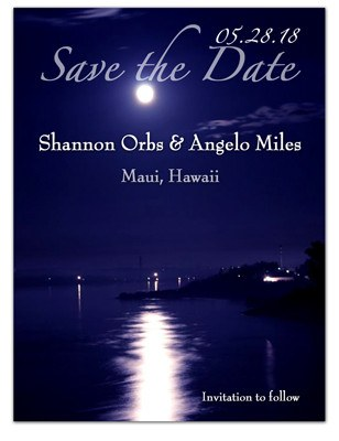 Beach Save the Date | Evening Moonlight | MAGNETQUEEN