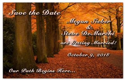 Seasonal Save The Date Magnet | <br>Autumn Trees