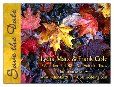 Fall Save the Date Wedding Magnets |<br> Falling Leaves - MAGNETQUEEN