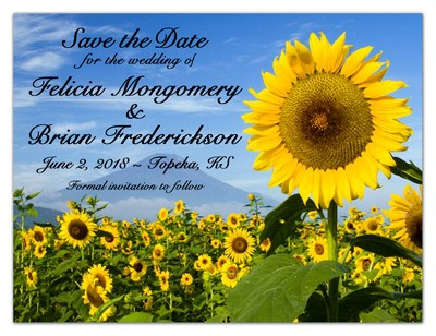 Save the Date Magnets | Sunflowers in the Field | MAGNETQUEEN