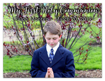 Communion Boy Photo Magnets | Simple Elegance | MAGNETQUEEN