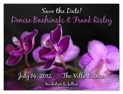 Save Date Magnets | Floating Purple Orchid | MAGNETQUEEN
