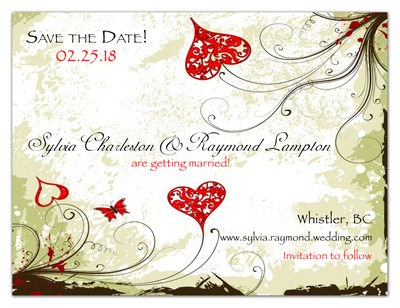 Unique Save The Date Magnet | Floral Hearts | MAGNETQUEEN