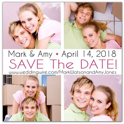 Save the Date Magnets | Four Squared | MAGNETQUEEN