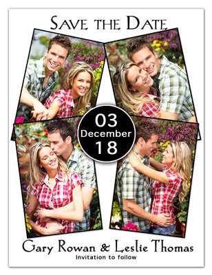 Save The Date Magnets | Four Photos On White | MAGNETQUEEN