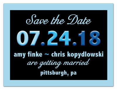 Save the Date Fun Magnet | Blue