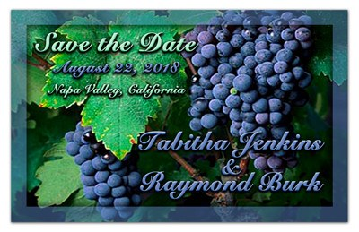 Vineyard Save the Date Magnets |<br> Garden of Grapes