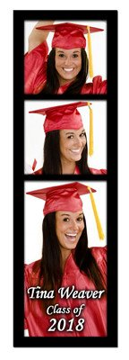Graduation Magnets | Photo Booth On Black | MAGNETQUEEN