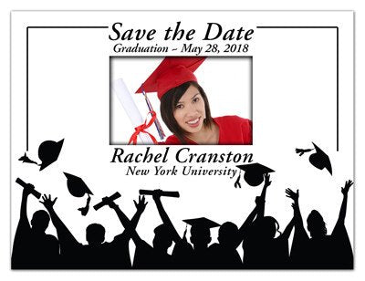 Graduation Fridge Magnets |<br> Hats Off With Photo - MAGNETQUEEN