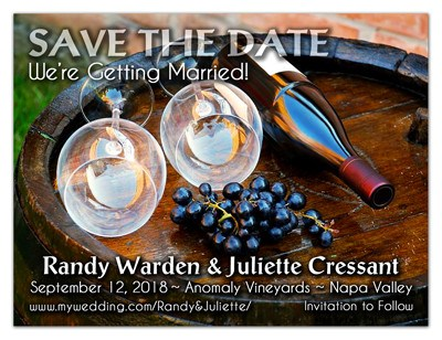 Wine Save the Date Magnets | Grapes, Glasses & Wine | MAGNETQUEEN