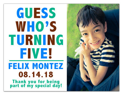 Magnetic Birthday Invitations | Guess Who | MAGNETQUEEN