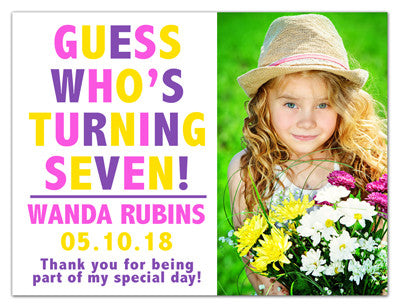 Birthday Invitation Magnets | Guess Who | MAGNETQUEEN