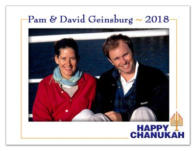 Hanukkah Photo Magnet | Happy Hanukkah | MAGNETQUEEN