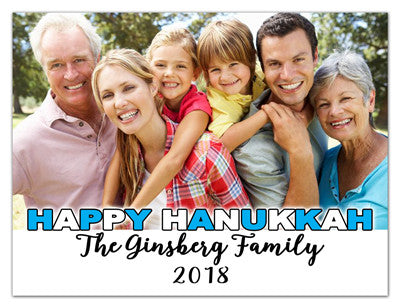 Hanukkah Photo Magnet | Simple Hanukkah | MAGNETQUEEN