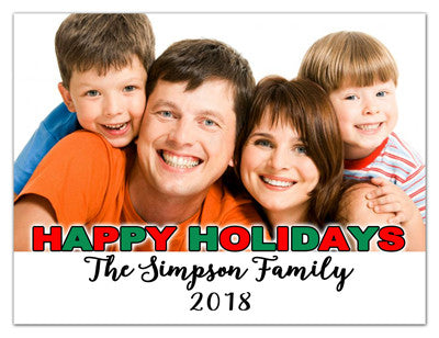 Holiday Magnet with Photo | Happy Happy Holiday