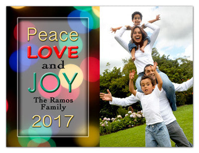 Holiday Photo Magnets | Peace Love and Joy | MAGNETQUEEN