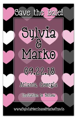 Fun Save the Date Magnets | Hearts Hearts | MAGNETQEEN