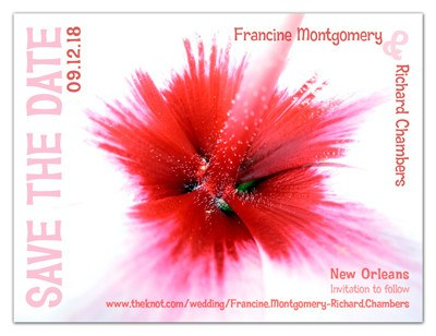 Save the Date Magnet | Hibiscus Explosion | MAGNETQUEEN